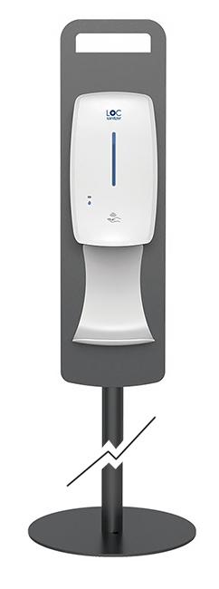 LOC Sanitizer floor standing dispenser option
